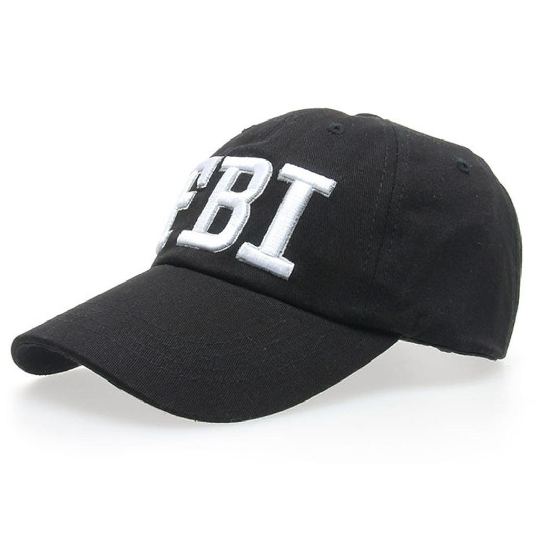 Amazon.com  TiTCool Womens Baseball Cap FBI Novelty Fun Embroidery Fashion  Sport Golf Ball Hat (Black)  Clothing 4e5685cdf90
