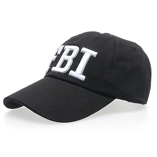 3052102f72d TiTCool Womens Baseball Cap FBI Novelty Fun Embroidery Fashion Sport Golf  Ball Hat (Black)