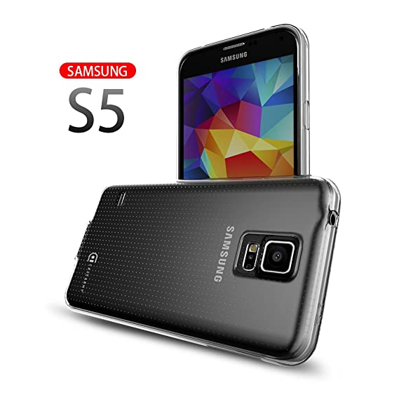 uk availability 80eae a46a4 Case Army Galaxy S5 | V | I9600 Clear Case [Manifest] Scratch-Resistant  Slim Clear Case for Samsung Galaxy S5 | V | I9600 Soft Flexible Silicone ...