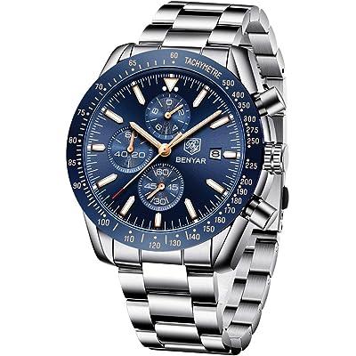 BY BENYAR Sport Casual Reloj de Pulsera de Cuarzo analógico Impermeable para Hombres