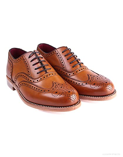 Womens Viv Tan Oxford Brogue Lace Up Shoes  Amazon.co.uk  Shoes   Bags 77d98817e1