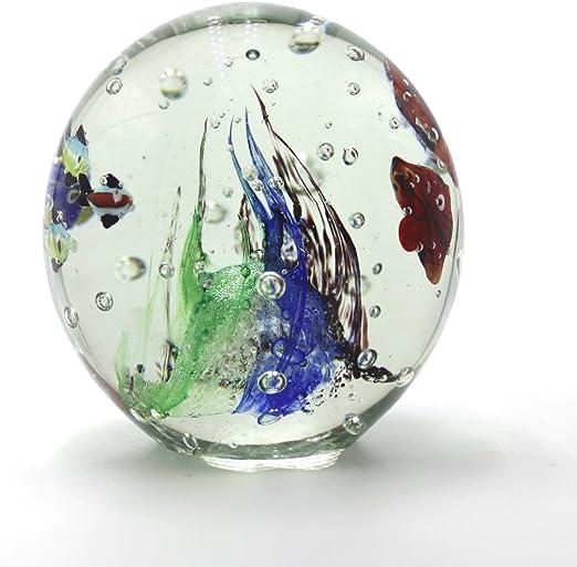 Briefbeschwerer Glas Kugel 8 X 12 cm Paperweight