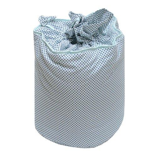 Câlin Câline Nino 100.32 - Bolsa para guardar juguetes, diseño de lunares, color azul, blanco