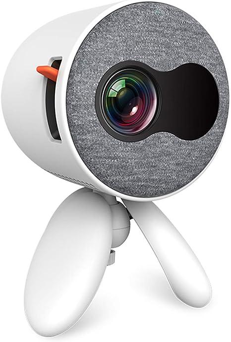 Opinión sobre WTTHCC Mini Proyector Portátil De Bolsillo Lindo Proyector con 1400 Lúmenes Y Reproductor De Video Full HD 1080P Regalo para Niños Compatible con HDMI USB 3D LED Beamer,Blanco