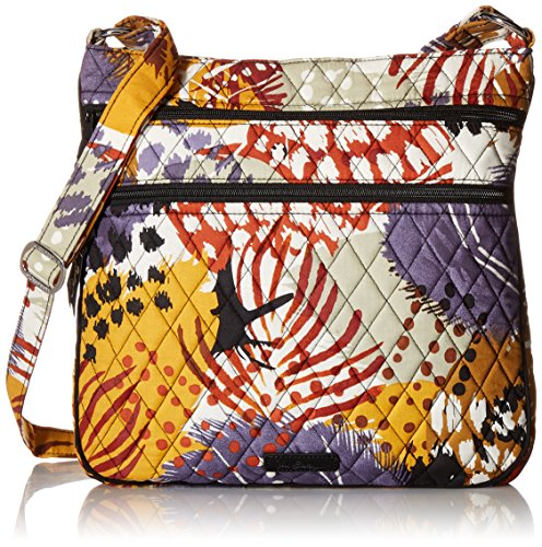 Vera Bradley Triple Zip Hipster, Painted Feathers