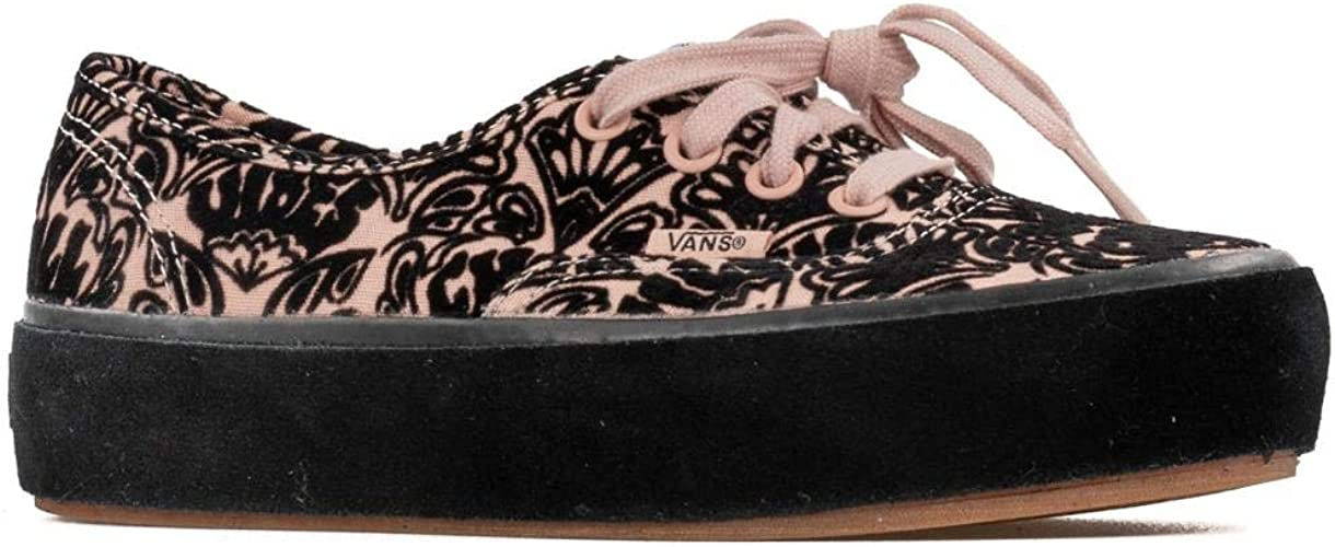 Amazon.com | Vans Women's Authentic Sidewall Wrap Platform ...