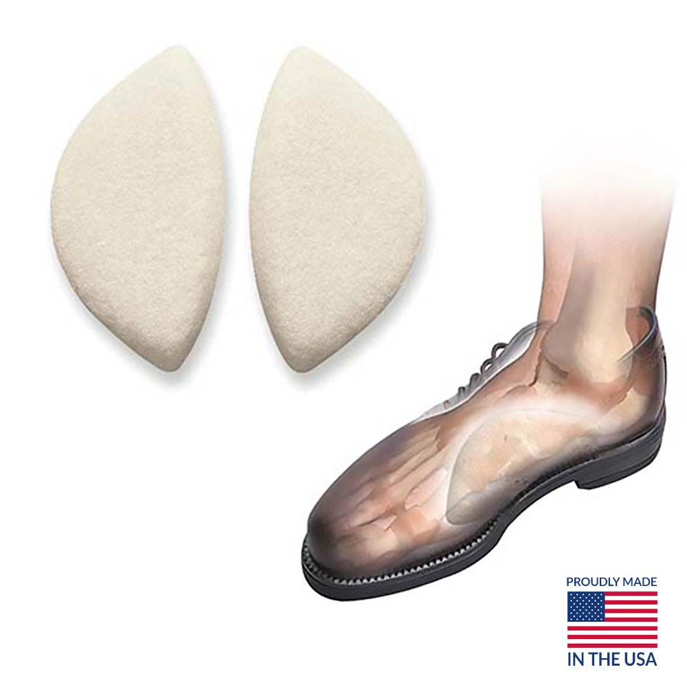 Arch Support Insoles to Relieve Arch Pain, Durable Foot Arch Support Shoe Inserts for Flat Feet - Flat Foot Arch Support Self Adhesive and High Arch Support - Hapad Scaphoid Pads Medium (Pack of 12 Pairs)