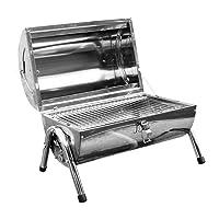 Special Grill Generic silber klein Edelstahl Exclusive Camping Balkon Picknick ✔ rund ✔ tragbar ✔ Grillen mit Holzkohle ✔ für den Tisch