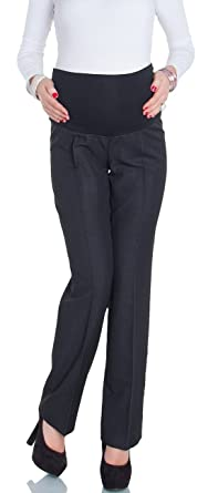 1a02a0953bf03 Happy Mama Women's Maternity Smart Tailored Work Office Over-bump Trousers.  246p (Anthracite