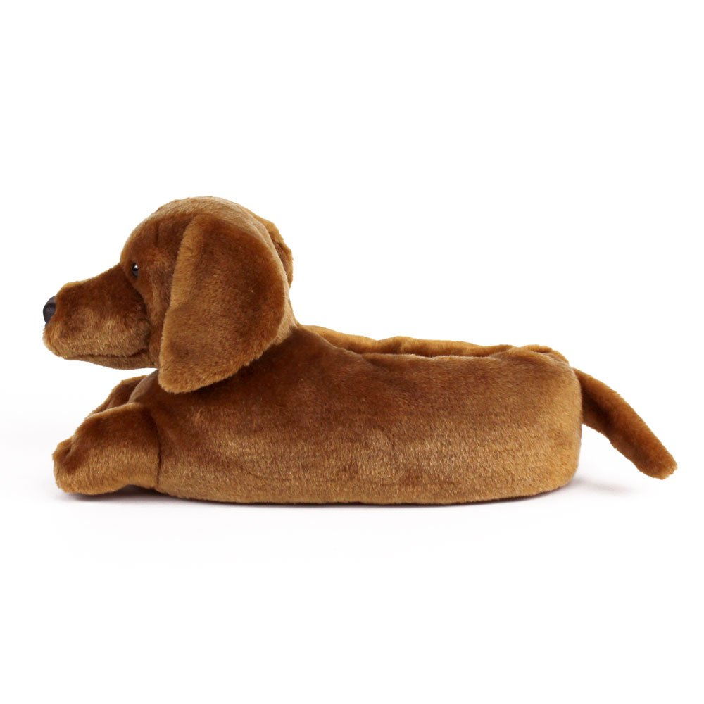 471c927ccac7 Dachshund Slippers - Dog Slippers for Men and Women One Size Brown   Amazon.co.uk  Shoes   Bags