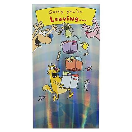 Label Humoristique Grande Carte Pour Départ Pop Up