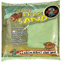 Zoo Med Laboratories SZMHC2G Hermit Crab, 2-Pound, Sand Green