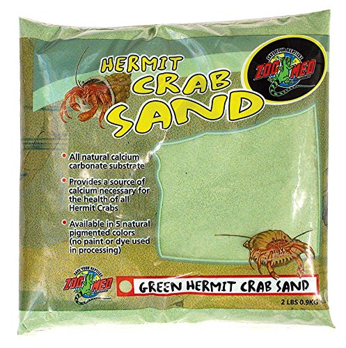 Zoo Med Laboratories SZMHC2G Hermit Crab, 2-Pound, Sand Green by Zoo Med
