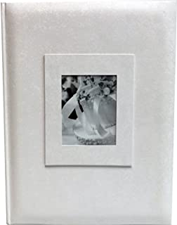 Wedding Story Photo Album/(set of 2) Jaquard Design w/window ,