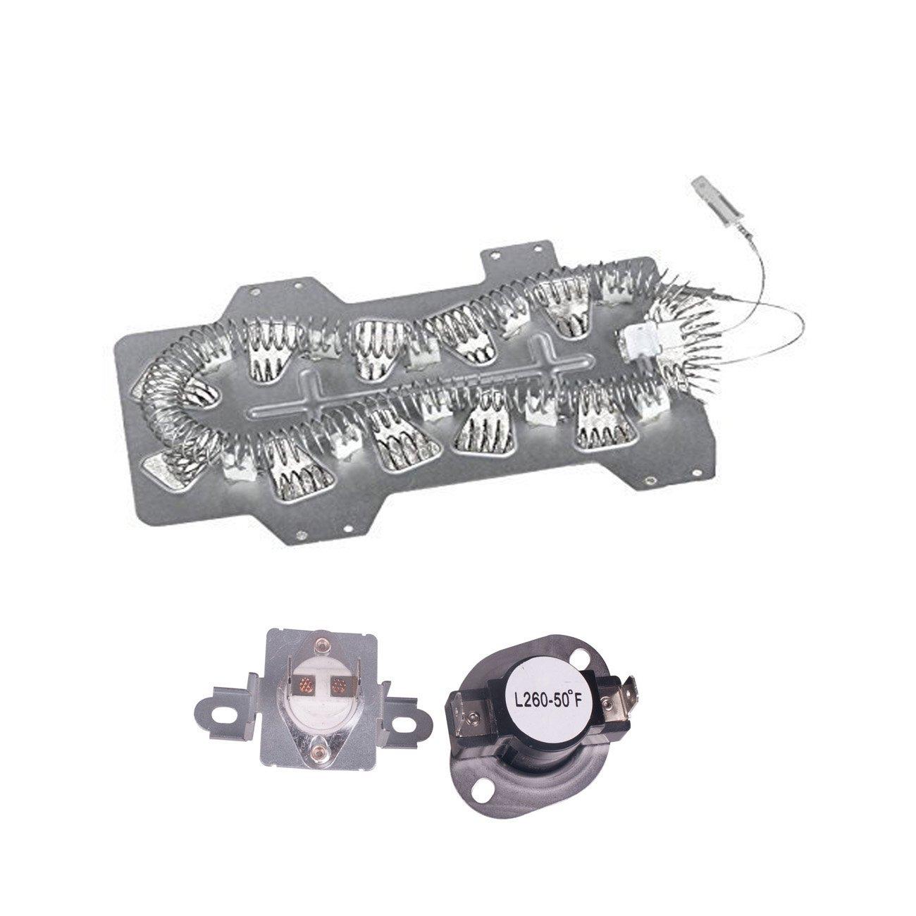 Siwdoy DC47-00019A & DC47-00018A & DC96-00887A for SAMSUNG Dryer Heater