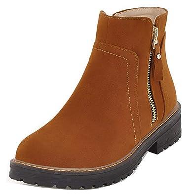 Easemax Femme Classique Petit Talon Bout Fermé Outdoor Bottines avec Zip   Amazon.fr  Chaussures et Sacs 08c35c43f2c5