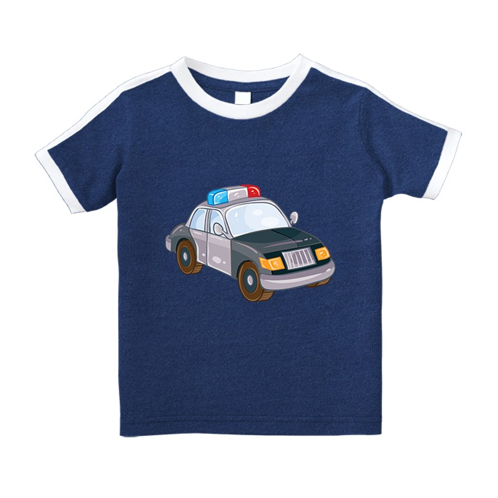 Police Car Little 2 Short Sleeve Crewneck Unisex Soccer Royal Blue 2t 5475 Shirts