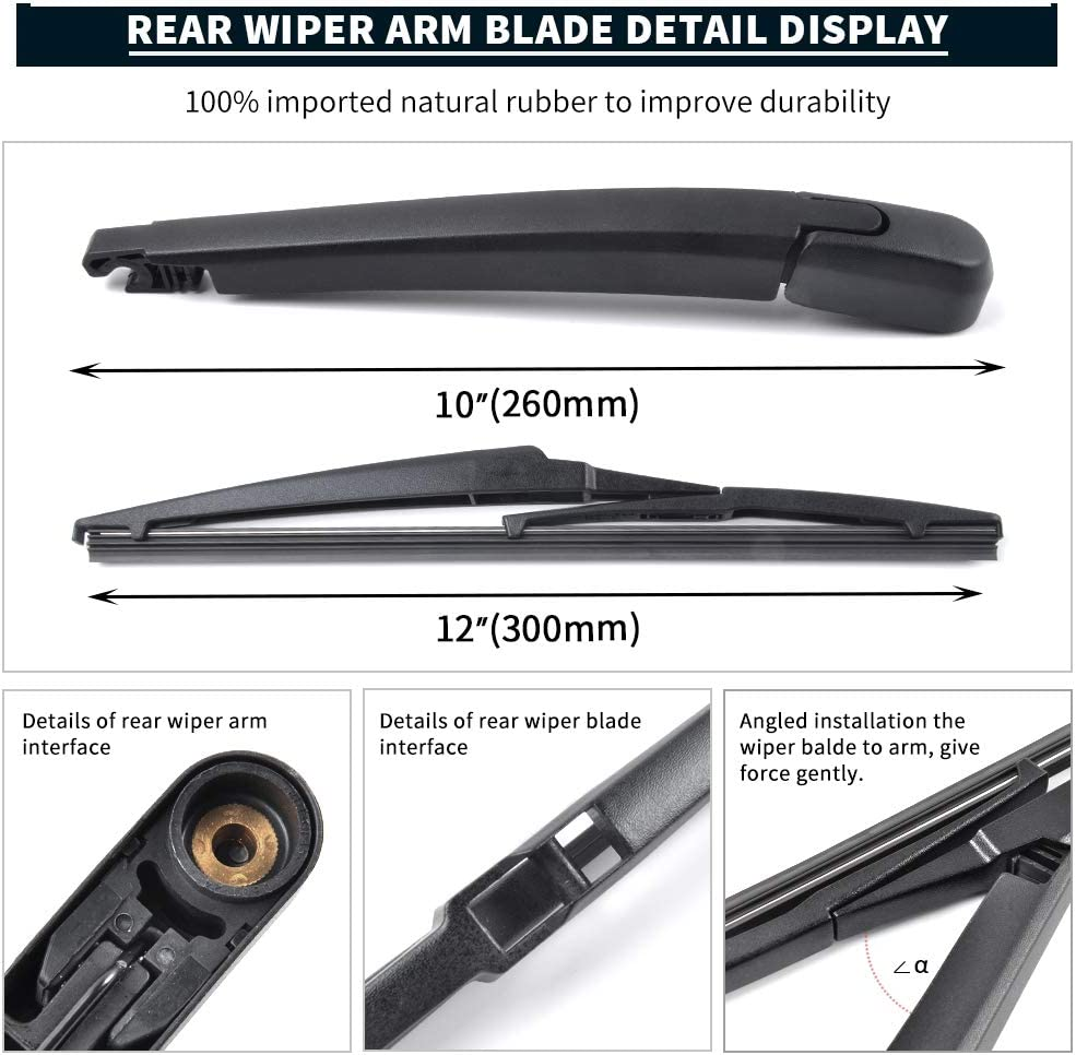 Rear Wiper Arm Blade For Skoda Octavia 2009-2013 1.6 2.0 TDI vRS CPWA459SK
