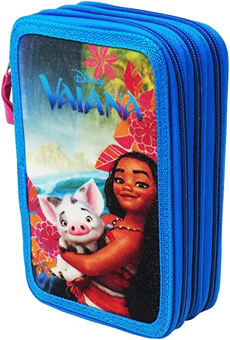 Estuche Disney Oceania Vaiana para La Escuela Gran Capacidad 43 Piezas: Amazon.es: Oficina y papelería