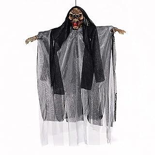 Electric Sound Cymbal Control Hang Ghost Puntelli Giocattolo terrorista per Halloween Trick. (Nero) 1PC