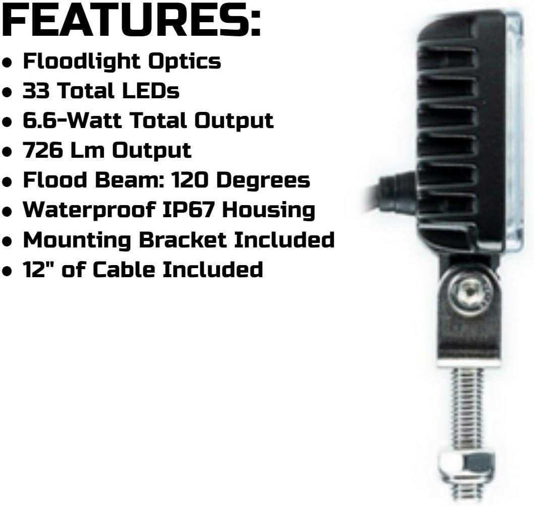 SpeedTech Lights Carbine-X Mini 3.5 Rectangular LED Floodlight