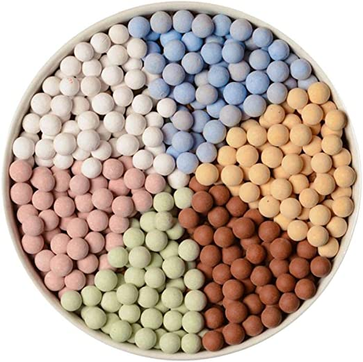 IUwnHceE - Cañón de Arcilla de Colores (500 g), para jardín, Resina, Guijarro, Paisaje y Piedras de Grava Piedras Decorativas. Y Grava para la construcción del Paisaje Plantas de Maceta de jardín.: