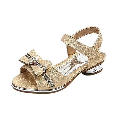f61980b5a44c3 GongzhuMM Sandales Bébé Fille 26-36 Été Chaussures Enfant Fille Chaussures  de Princesse Cristal