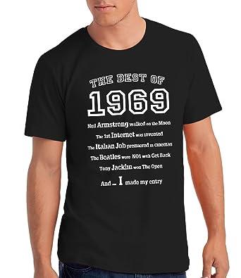 Da Londra Maglietta Da Uomo The Best Of 1969 Regalo Di Compleanno Per 50 Anni