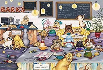 NEW Gibsons Woofits Sweet Shop by Linda Jane Smith 1000 piece dog jigsaw puzzle