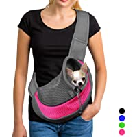 YUDODO Pet Dog Sling Carrier Breathable Mesh Travel Safe Sling Bag Carrier for Dogs Cats