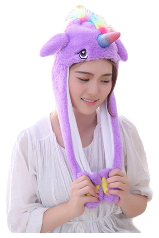 Creative Funny Unicorn Shaped Headgear Hat Animal Cosplay Headwear