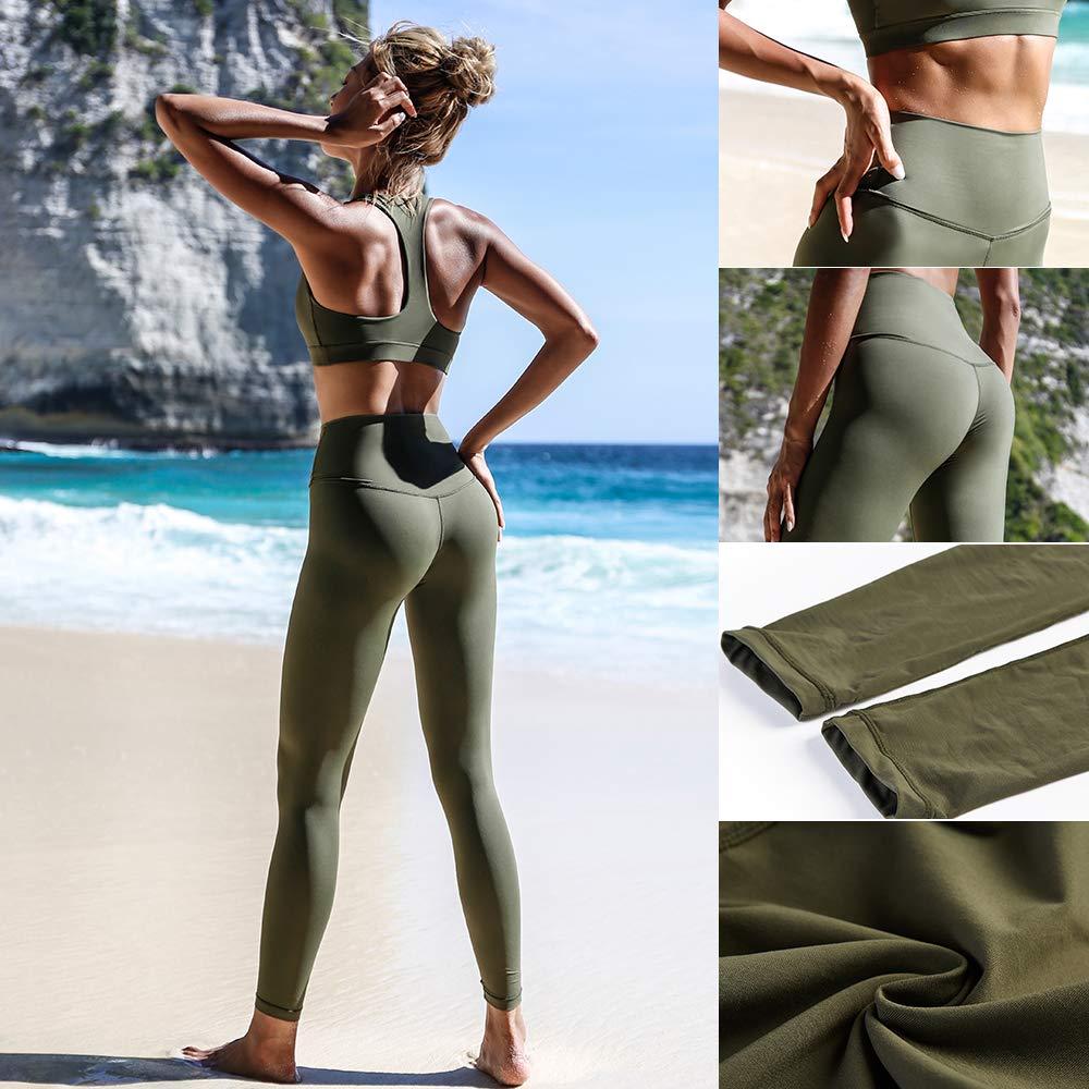 La Nikar Womens Yoga Sport Leggings Hi-Waist Workout Line Design Trousers Panties
