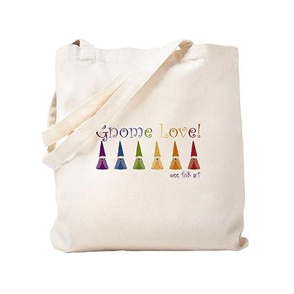 Amazon Com Cafepress Gnome Love Gif Natural Canvas Tote Bag