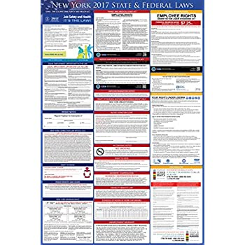 Amazon 2017 new york federal and state labor law posters 2017 new york employment labor law poster state federal compliant osha compliant sciox Choice Image