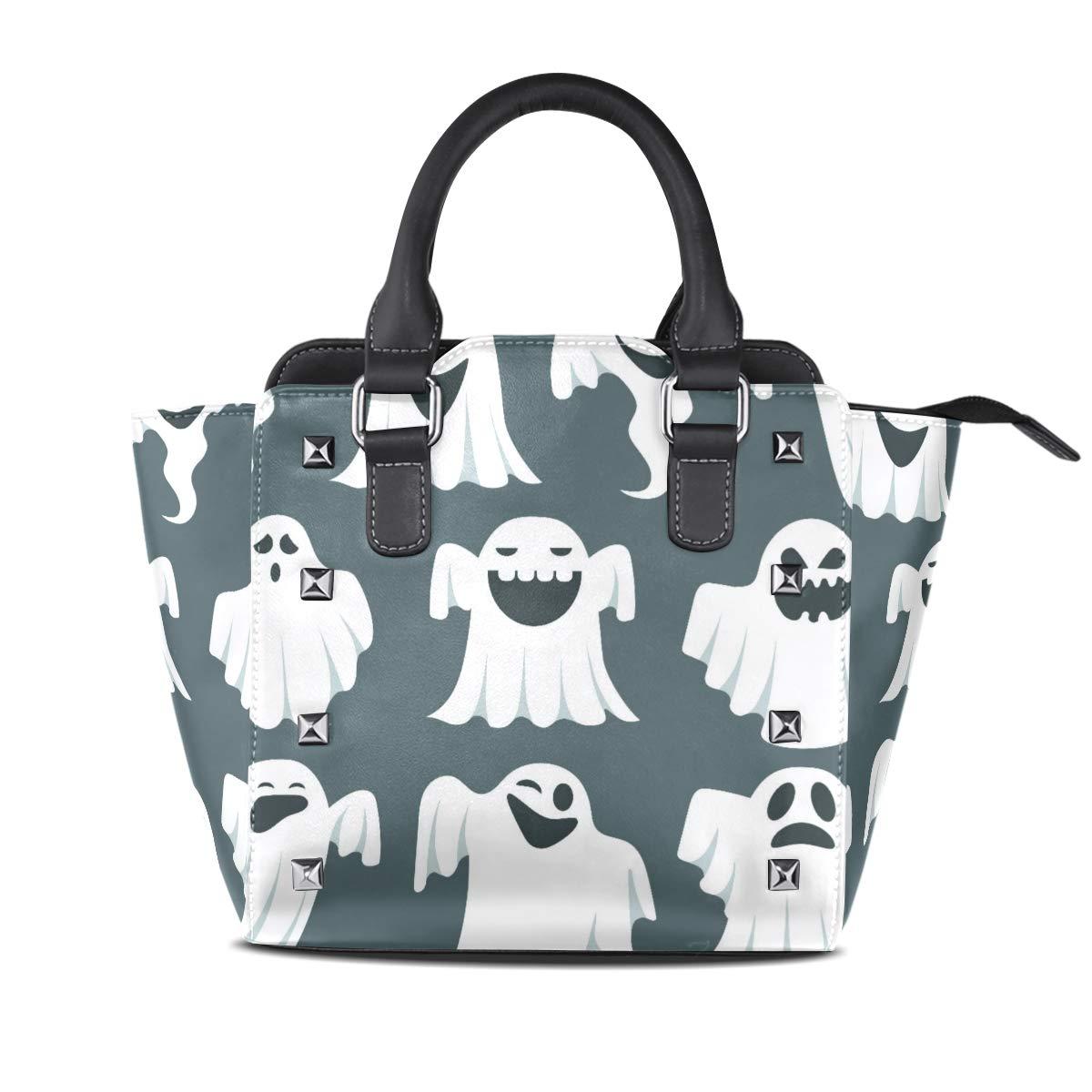 Design4 Handbag Leaves Genuine Leather Tote Rivet Bag Shoulder Strap Top Handle Women