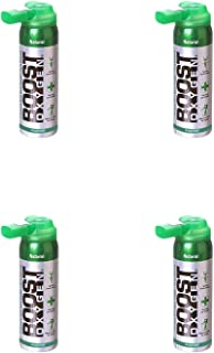 product image for Boost Oxygen Canned 2-Liter Natural Inhaler Canister Bottle for High Altitudes, Athletes, and More, Flavorless (4 Pack)