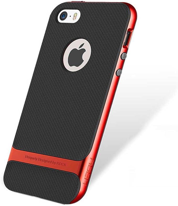 Rock Royce Coque ultra fine hybride résistant aux chocs pour iPhone SE 5 5S