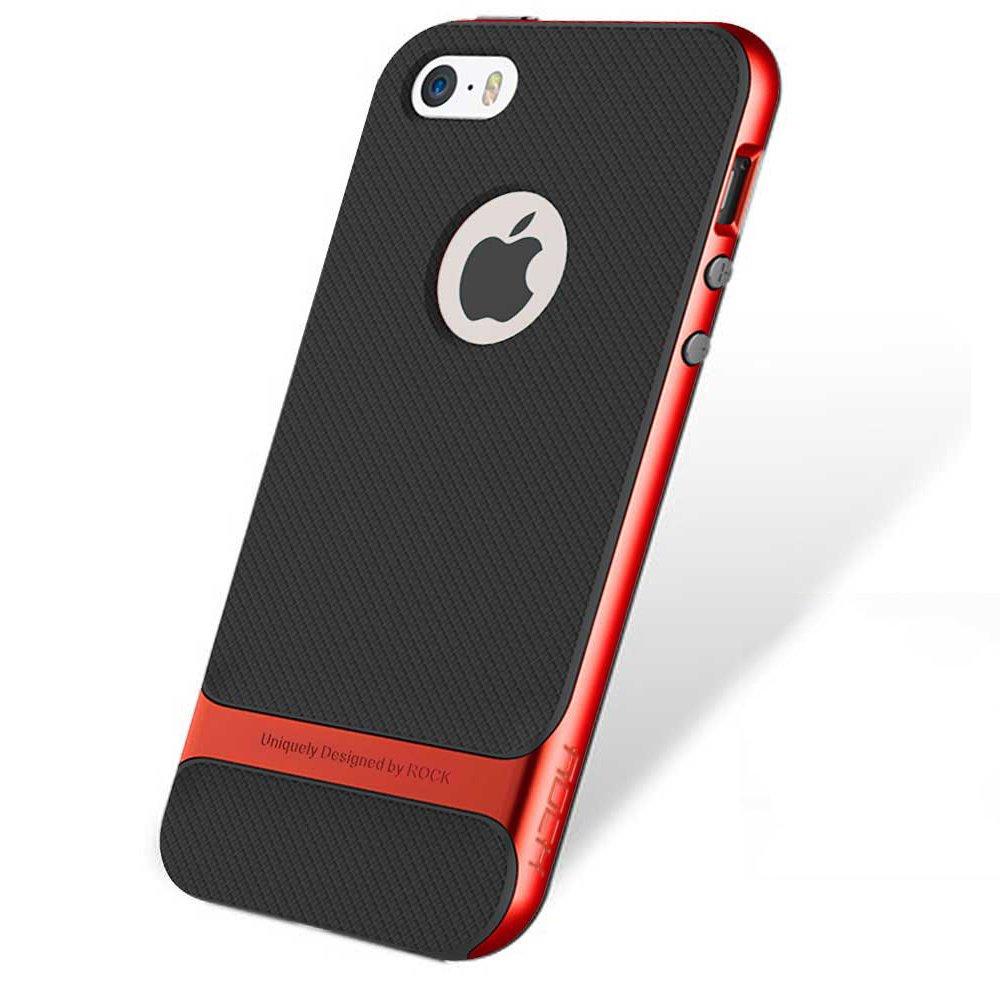 Genuine ROCK Royce Ultra Slim Hybrid Shockproof iPhone SE 5 5S Case Cover - Red