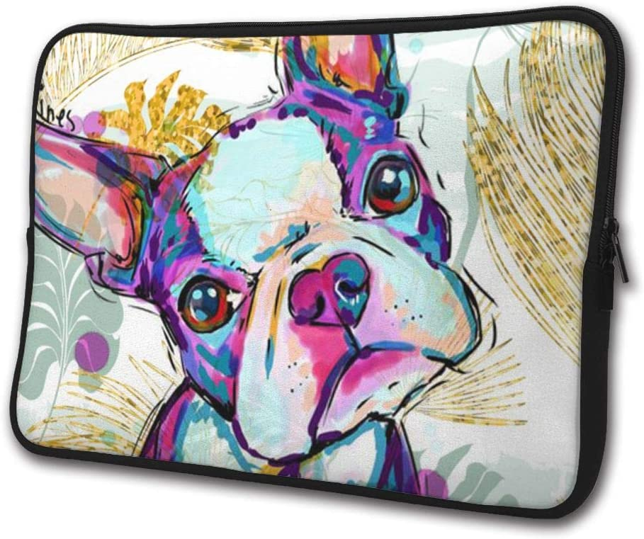 SWEET-YZ Laptop Sleeve Case Boston Terrier Dog Notebook Computer Cover Bag Compatible 13-15 Inch Laptop