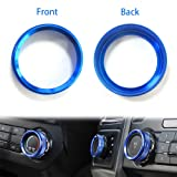 6 Pcs Aluminum Alloy Car Inner Side Air Conditioner Trailer 4WD Switch Knob Ring Cover Trim for Ford F150 XLT 2016 2017 2018