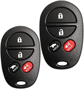 VOFONO Key Fob Keyless Entry Remote fits 2005-2008 Toyota Avalon, 2004-2008 Toyota Solara (GQ43VT20T 4-Btn), Set of 2