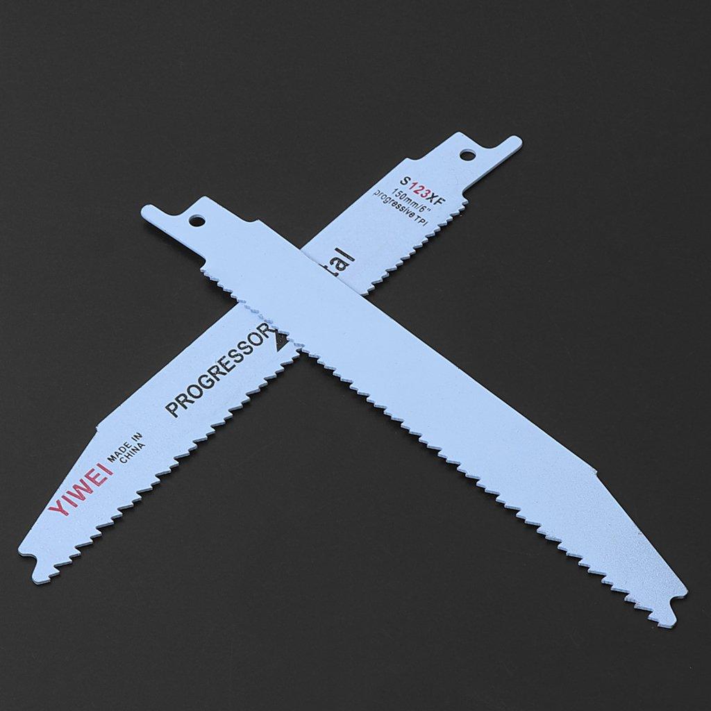 Exing 2 st/ücke Durable BIM S123XF 152mm 6  S/äbels/äge S/äbels/äugebl/ätter F/ür Schneiden Metall Holz