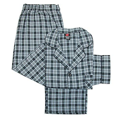 Hanes Men's Broadcloth Long Sleeve Pajama Set (XX-Large, ()