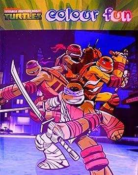 Libro para colorear de las Tortugas Ninja -: Amazon.es ...