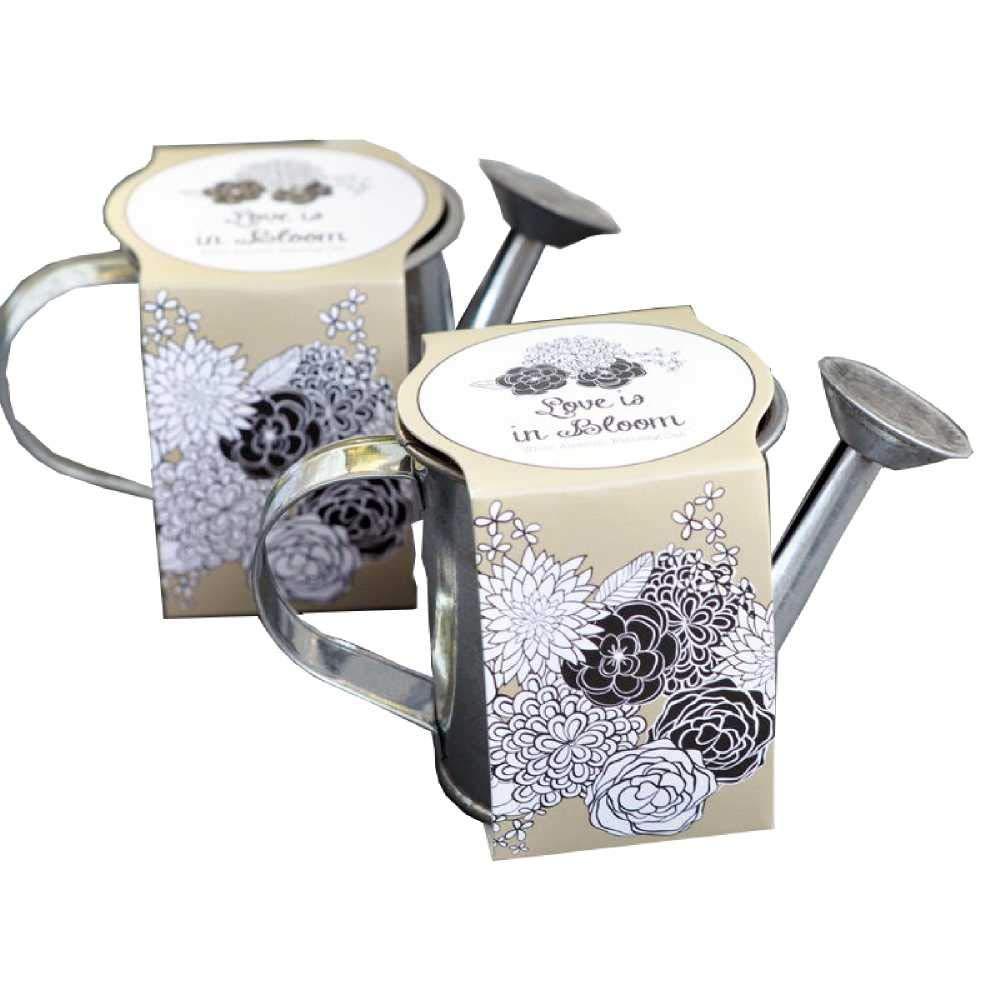 25 Watering Can Planting Kit Favors by Eventblossom