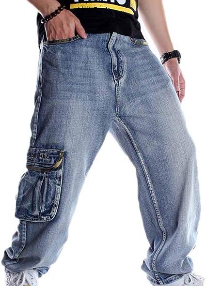 Pantalones De Mezclilla Multibolsillos Para Hombre Pantalones Sueltos Moda Ninos Hip Hop Street Dance Skateboard Cargo Pantalones 30 46 Amazon Es Ropa Y Accesorios