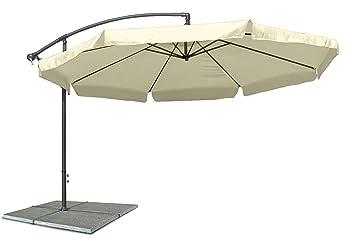 Sonnenschirm Ampelschirm Beige Verstellbar Mit Kurbel Durchmesser