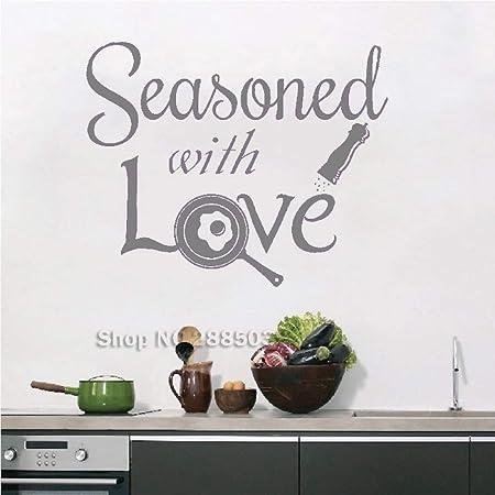 yaoxingfu Sazonado con Amor, calcomanías de Pared de Cocina ...