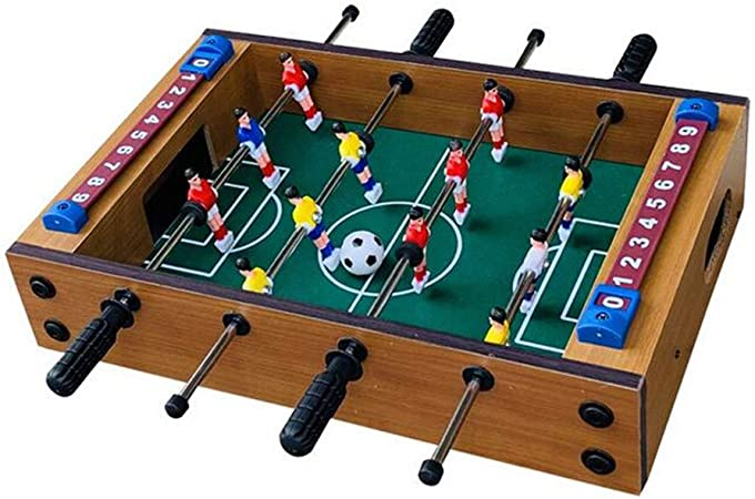 ZSDGY Mini Mesa de fútbol Sala de Madera, máquina de futbolín, 4 ...