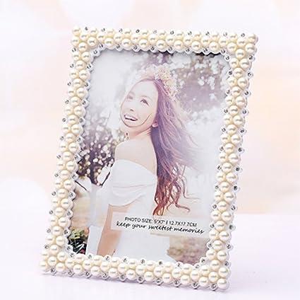 weiwei Portaretrato resina creative, Portaretrato rectangular boda Presentes de cumpleaños 6 7 8 pulgadas marco
